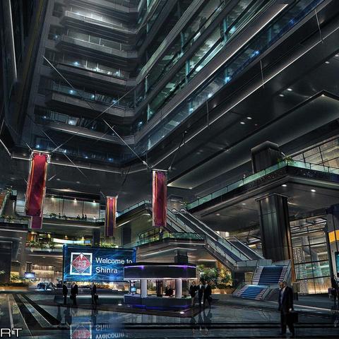 Shinra HQ Shinra Building - Main Entrance