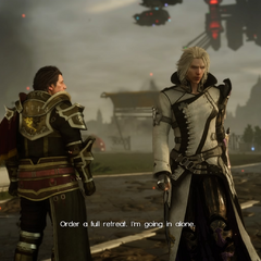 Caligo with Ravus in <i>Episode Ignis</i>.