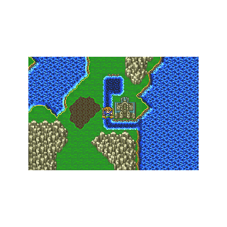 The Sealed Castle on the World Map in Galuf's World (GBA).