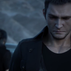 Cor speaking to Noctis in the Jump Festa 2015 trailer.