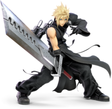SSBU Cloud Strife render 002
