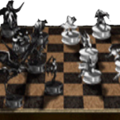 Chess Set with Summon Pieces - Ghost Square.