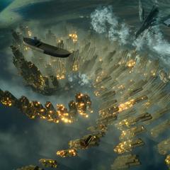 Titan versus Leviathan.