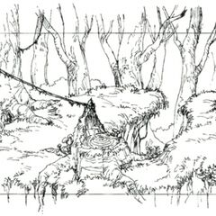 Concept art of the third area.