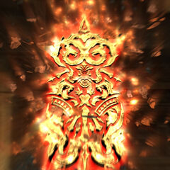 Belias's Glyph as seen after his crystal has shattered.
