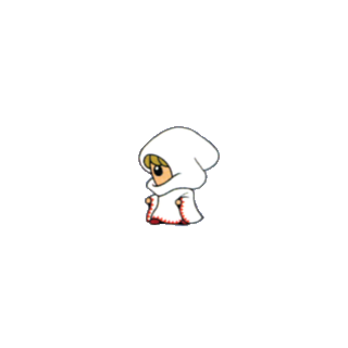 Artwork of the White Mage job class from the <i>V-Jump</i> strategy guide for the <a href=