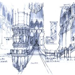 Concept artwork of the main hall.