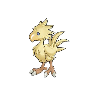 Chocobo artwork from the <i>Dawn of Souls</i> remake.