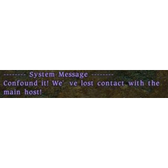 System Message just before servers were shut down for the catastrophe.