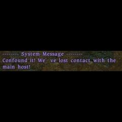 Mensagem do sistema antes dos servidores cairem.