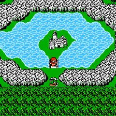 Kashuan Keep on the World Map (NES).