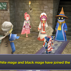 White Mage in the 3D remake version for smartphones.