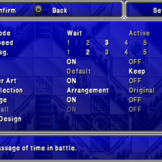 The Config menu in the <i>Complete Collection</i> for PSP.