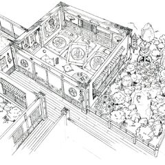 Godo's house concept art.