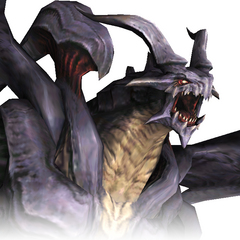 A close up view of Bahamut.