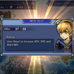 Recruiting Ramza's textbox.