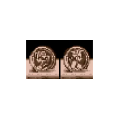 The coin's two sides, Edgar and Sabin, in the ending sequence.