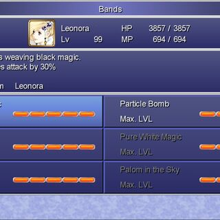 The Band menu in the Steam version.