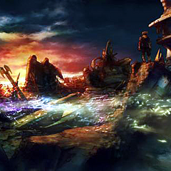 Artwork of Zanarkand ruins in <i>Final Fantasy X</i>.