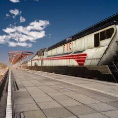 Поезд в Картанике.