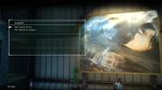 Angelgard menu in FFXV Episode Ardyn