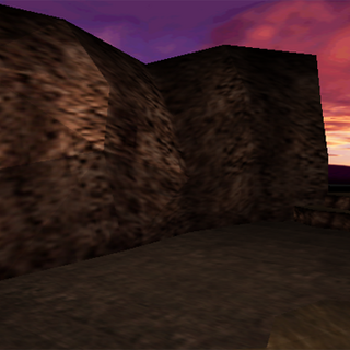 Cosmo Area Dirt battlefield in <i>Final Fantasy VII</i>.