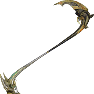 Pulse represented as the demonic half of Bhunivelze's scythe.