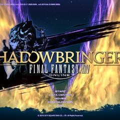 Pantalla de título de <i>Shadowbringers</i>.