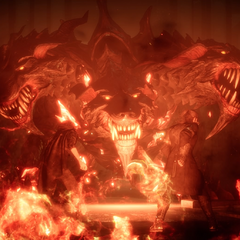 Cerberus in <i>Final Fantasy XV</i> (<i>Royal Edition</i>).
