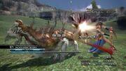 Fang attacks gorgonopsid