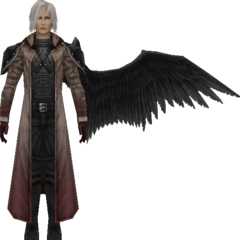 Degraded model in <i>Crisis Core -Final Fantasy VII-</i>.