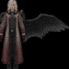 Modelo degradado em <i>Crisis Core -Final Fantasy VII-</i>.