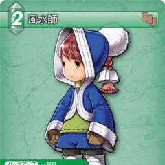 Trading card of Arc as a Geomancer.