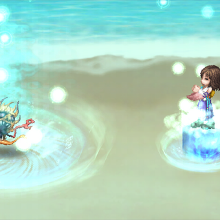 Aemo, as Yuna, performing the Sending.