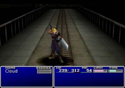 FFVII Cloud victory pose