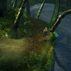 The eastern side of the woods in <i>Final Fantasy X</i>.