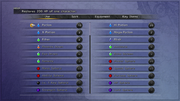 FFX Items Menu PS3