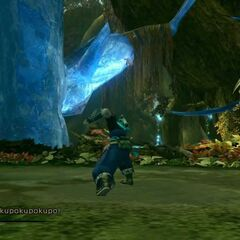 The crystal from the pillar in Sunleth Waterscape in <i>Final Fantasy XIII-2</i>.
