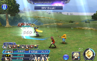 DFFOO Bravery Attack Warrior of Light
