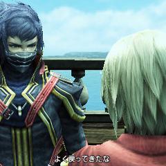 Kurasame falando com <a href=