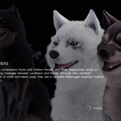Tela de carregando em <i>Final Fantasy XV</i>.