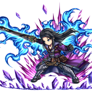 Lasswell and Purple Lightning (Brave Frontier).