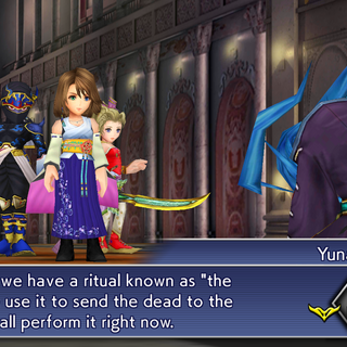 Yuna tries to send Seymour.