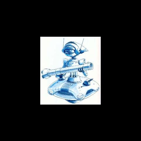 <i>Final Fantasy Legend II</i> Robot US artwork.