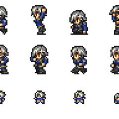 Set of Fujin's sprites.