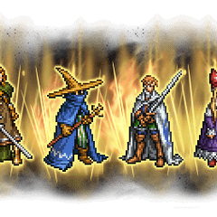 Ultimate+ Milleuda, Black Mage, Knight, & Time Mage.