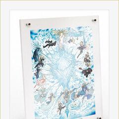 Иллюстрация Амано в рамке.