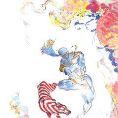 Альтернативный рисунок Тени и Перехватчика работы Ёситака Амано.