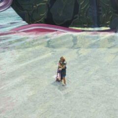 Tidus and Yuna reunited in the good ending.