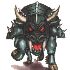 Concept artwork of the Behemoth from <i>Final Fantasy Mystic Quest</i>.